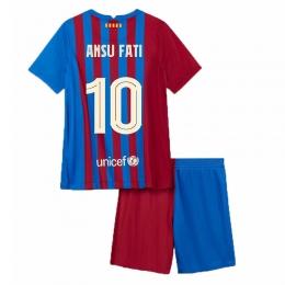 Camiseta Ansu Fati 10 Barcelona Primera Equipación 2021/2022 Niño Kit